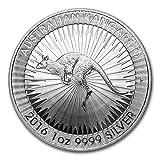 2016年 オーストラリア カンガルー・1オンス 銀貨 31.1g シルバー コイン 純銀 1ドル 高級アクリルカプセル・クリアーケース付き