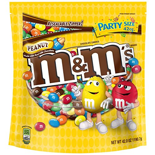 M&M'S Peanut Chocolate Candy Party Size 42