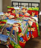 CrazeVilla Subway Surfer cartoon print single bed reversible Ac Blanket/Dohar for kids