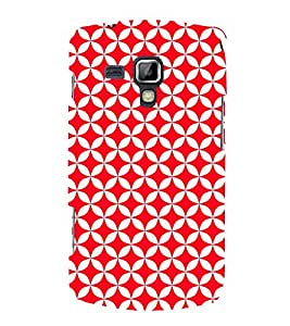 Red Circular Triangles 3D Hard Polycarbonate Designer Back Case Cover for Samsung Galaxy S Duos S7562
