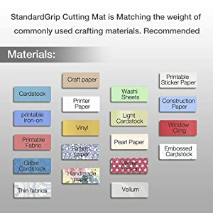 REALIKE 12X12 StandardGrip Cutting Mats for Silhouette Cameo 3/2/1(3 Pack),Gridded Adhesive Non-Slip Non-Slip Cutting Mat, Replacement Accessories Set Mats Vinyl Craft Sewing (Color: StandardGrip)