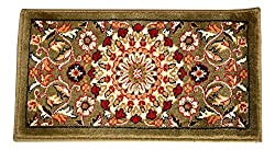 Fabric Mat by Home Stay - 24 x 12, Green, Beige