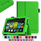 """Fintie Kindle Fire HD 7"""" (2013 Old Model) Slim Fit Folio Case with Auto Sleep / Wake Feature (will only fit Amazon Kindle Fire HD 7, Previous Generation - 3rd), Green"""