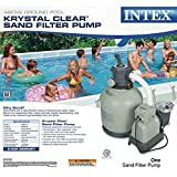 Intex Krystal Clear Sand Filter Pump for Above Ground Pools, 3000 GPH Pump Flow Rate, 110-120V with GFCI