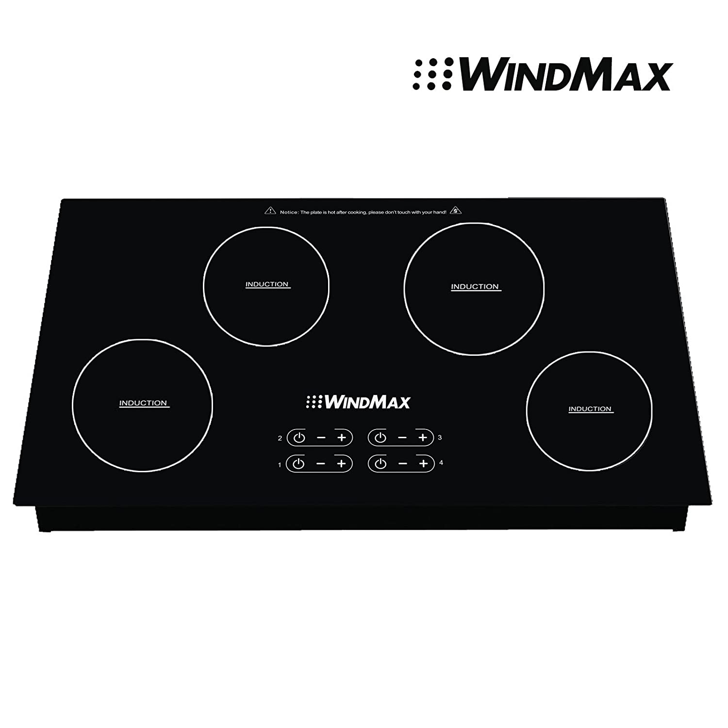 Windmax 31.5 inch Induction Hob 4 Burners Stove Cooktops Glass Household Electric Cooker