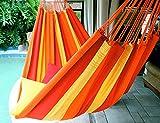 Orange Mix - Fine Cotton King Size Hammock, Made in Brazil