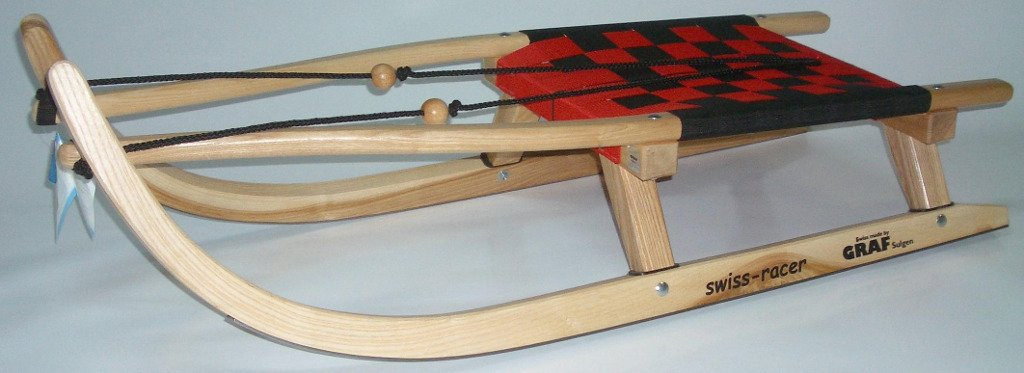 Ress Rennrodel Graf Swiss Racer Gurtsitz, Rot/Silber, 112 cm, 85002