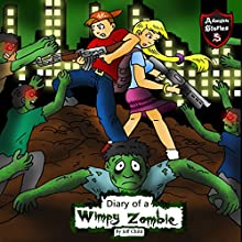 Diary of a Wimpy Zombie: Kids' Stories from the Zombie Apocalypse Audiobook by Jeff Child Narrated by John H Fehskens