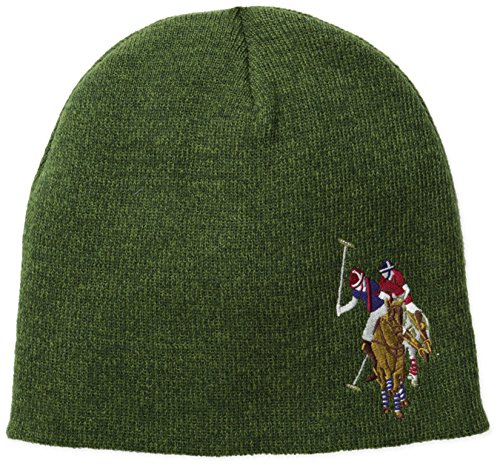 us-polo-assn-mens-solid-beanie-forest-heather-one-size
