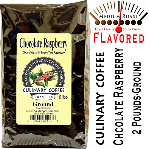 Culinary Coffee Roasters Chocolate Raspberry, Flavored Ground Coffee, 2-Pound Bag Amazon Special-100% Satisfaction Guaranteed!