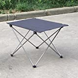 Anself Portable Foldable Folding Table Desk Outdoor Picnic Camping 7075 Aluminium Alloy Ultra-light Grey