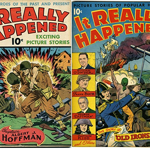 Golden Age Adventure Comics - It really happened. Popular heroes of the past and present. William O'dywer, Frank Buck, George Eastman and Captain Kidd. Issues 4 and 9. Golden Age Digital Comics (English Edition)