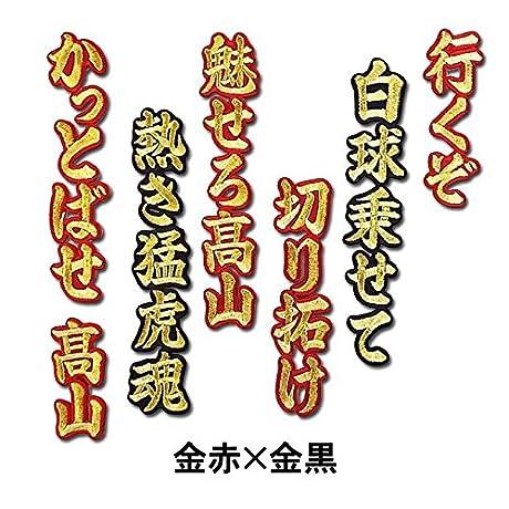 【プロ野球 阪神タイガースグッズ】高山 俊ヒッティングマーチ(応援歌)ワッペンカラー:金黒×銀黒