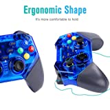 Wireless Controller for Nintendo Switch, KINGEAR Pro Gamepad Compatible with Nintendo Switch, Windows PC and Android (Color: Blue)