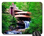 Fallingwater a Frank Lloyd Wright House in Pennsylvania Mouse Pad, Mousepad (Modern Mouse Pad)