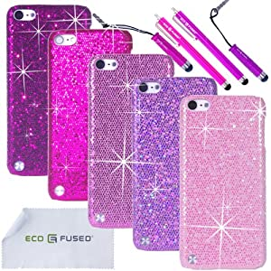 iPod Touch 5 Case Bundle including 5 Bling Glitter Hard ...