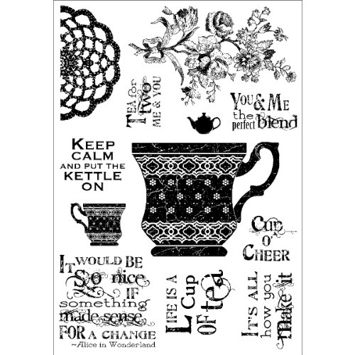 Stampers Anonymous Darcie'S Clear Stamp Set, 4 By 5.5-Inch, Cup Of Tea