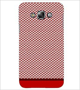 PrintDhaba Zig Zag Pattern D-1697 Back Case Cover for SAMSUNG GALAXY A7 (Multi-Coloured)
