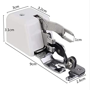 YEQIN Side Cutter Sewing & Cutting Attachment Presser Foot for Low Shank Sewing Machine #RCT-10L (Color: Style1)