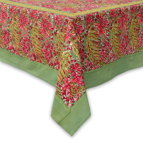 couleur nature bougainvillea tablecloth 71 inches by 106. Black Bedroom Furniture Sets. Home Design Ideas