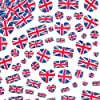 Union Jack Foam Stickers (Pack of 108)