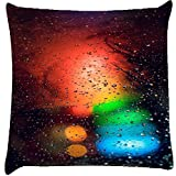 Snoogg Abstract Traffic Light Cushion Cover Throw Pillows 16 X 16 Inch
