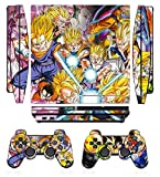 Dragon Ball 272 Skin Sticker Cover Decal Protector for PS3 SLIM and 2 controller skins