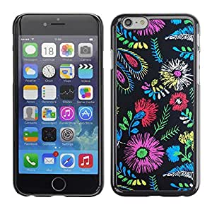 Omega Covers - Snap on Hard Back Case Cover Shell FOR Iphone 6/6S (4.7 INCH) - Colors Fabric Fashion Clothes Flowers