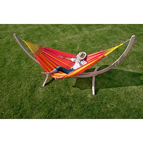 Coolaroo Chillax Sonrisa Double Person Polypropylene Hammock, Lime
