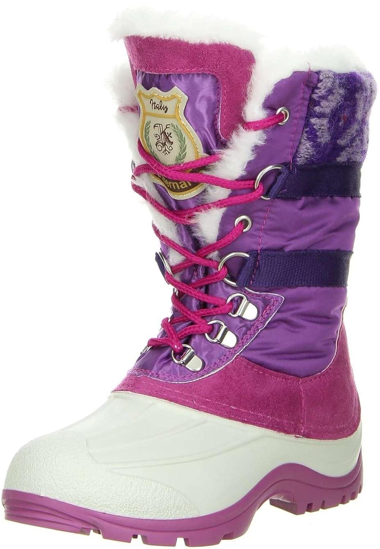 San Bernardo Kinder Winterstiefel Snowboots pink