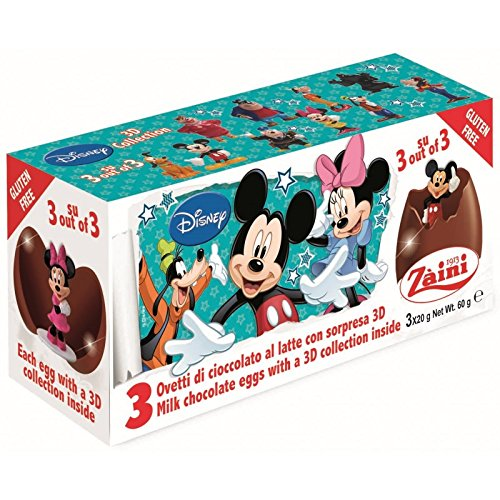 Disney MICKEY Zaini Milk Chocolate with Surprise Collection 3 Eggs