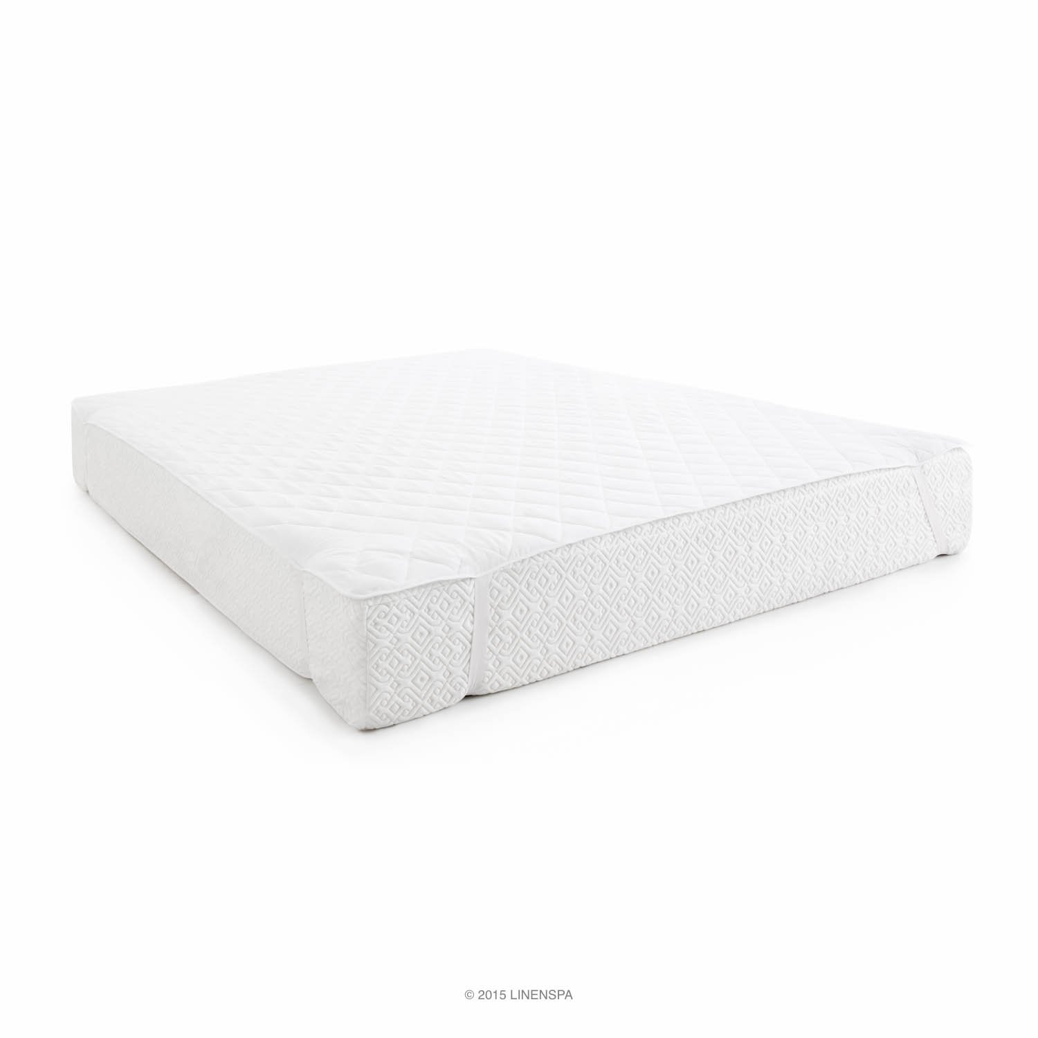 LINENSPA Waterproof Mattress Pad with Quilted Microfiber Cover - Twin