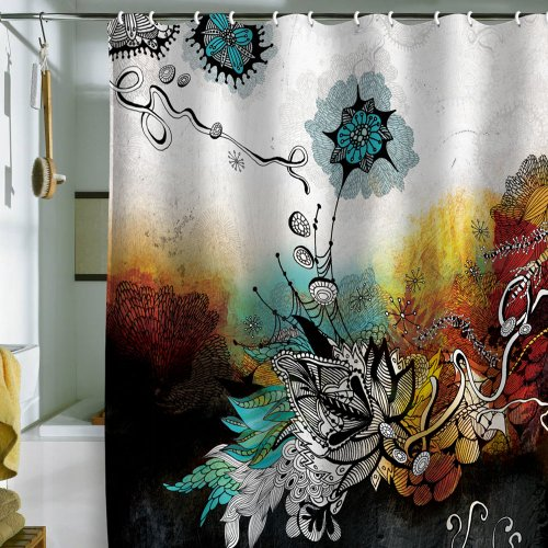 DENY Designs Iveta Abolina Frozen Dreams Shower Curtain, 69 by 72