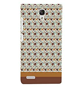XIAOMI REDMINOTE COUPLE PATTERN Designer Back Cover Case By PRINTSWAG