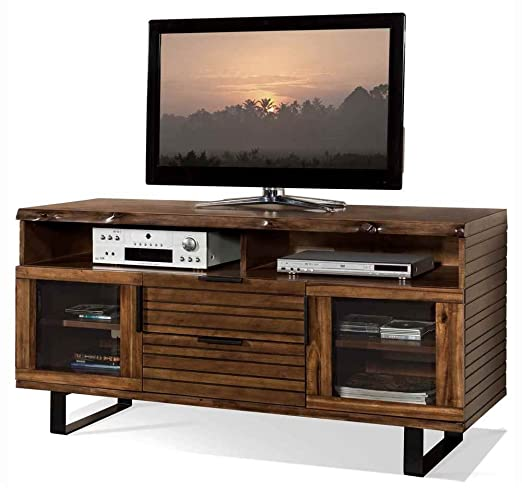 TV Cabinet in Burnt Hickory Finish