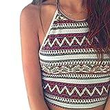 ABC® Women Boho Tank Tops Bustier Bra Vest Crop Bralette Cami (M)