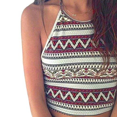 ABC® Women Boho Tank Tops Bustier Bra Vest Crop Bralette Cami (S)