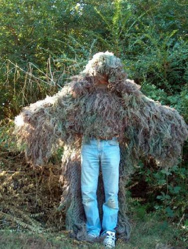 STALKER Ghillie Poncho Synthetic Ultra Light Suit Mossy