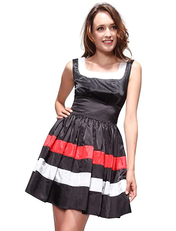 Ever Pretty Square Neck Sleeveless Pleated Short Casual Day Dress 81335
