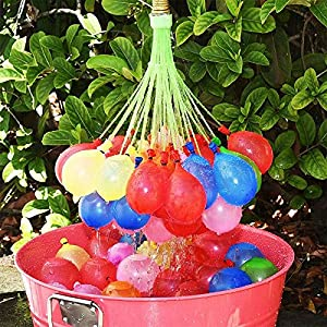 Ulife-JOY Magic Water Balloons 111 Pcs / Set Cool Water Fight for Summer Outdoor 3 bunches Fast to Fill with a Reusable Hose Attachment Make a Bunch of Battle Ready Water Bombs Fast