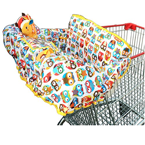 For Sale! Crocnfrog 2-in-1 Shopping Cart & High Chair Cover for Baby! Premium Cotton, Free e-Boo...