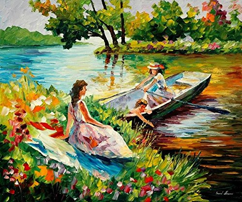 ***SPRING SALE*** PICNIC II is a ONE-OF-A-KIND, ORIGINAL OIL PAINTING ON CANVAS by Leonid AFREMOV