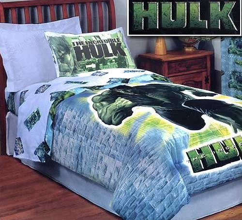 New Incredible Hulk Bed Comforter Marvel Comic Bedding Full