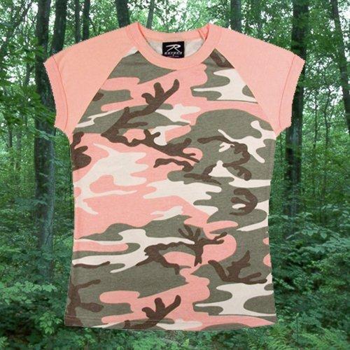 Women's Subdued Pink Camo S/S Raglan T-Shirt - Xx-Large
