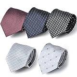 (スミスアンドスコット) Smith & Scott 全24パターン 洗濯 出来る ポリ ウォッシャブル ネクタイ 5本 セット 無地 ストライプ 小紋 チェック ドット 柄 ビジネス ブランド ネクタイ タイプ23