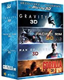 Image de Gravity + Pacific Rim + Man of Steel + Godzilla [Combo Blu-ray 3D + Blu-ray