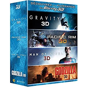 Gravity + Pacific Rim + Man of Steel + Godzilla [Combo Blu-ray 3D + Blu-ray