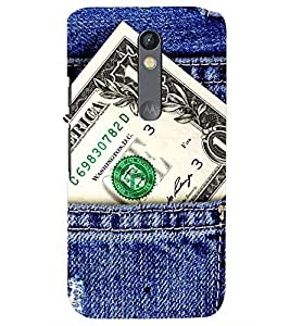 Printvisa Premium Back Cover Money Power In Your Pocket Design For Motorola Moto X Style::Moto X Pure Edition