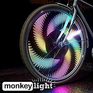 Monkey M232 Waterproof 32 Full Color LED Bike Wheel Light - Black, 200 Lumen