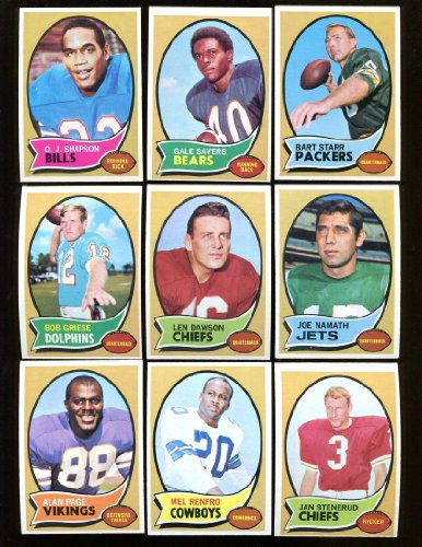 1970 Topps Football Complete Set Exmt 263 Cards O.J. Simpson Rookie (Oj Simpson Football Card compare prices)